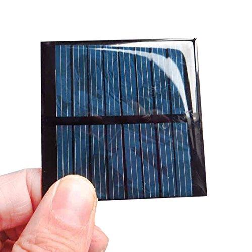 Ezoes Mini DIY Solar Power Panel Module - 2Pcs 4V 60mA Solar System Cells Epoxy Charger - for Battery Charger Kit LED Teaching Kit Micro Power Solar Cells - CNC55x55-4 4V-60mA