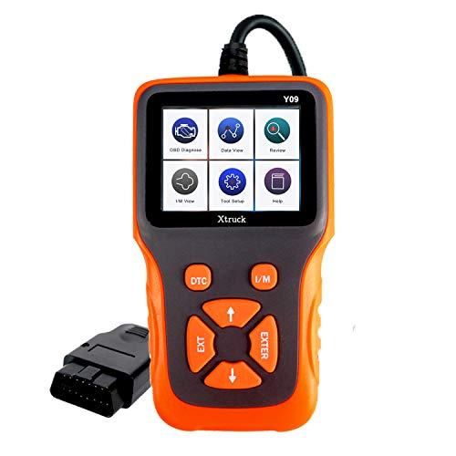 Xtruck OBD2 Auto Diagnostic Scanner Y09 OBD II Car Engine Code Reader Car Diagnostic Scanning Tool Vehicle Inspection Engine Light Analyzer Y09