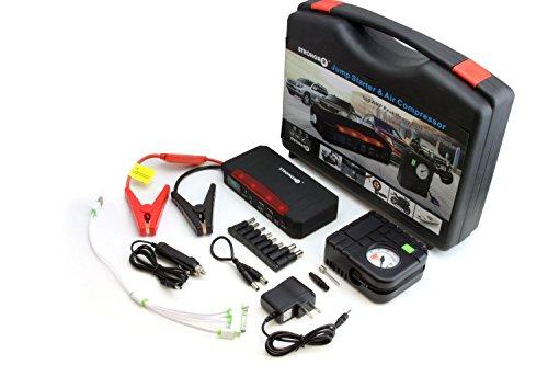 LB1 High Performance 600AMP Peak Portable Battery Jump Starter with Air Compressor for 2013 Kawasaki Ninja650 21000mAh Battery Laptop Charger Emergency Kit with LED Lights Flashlight