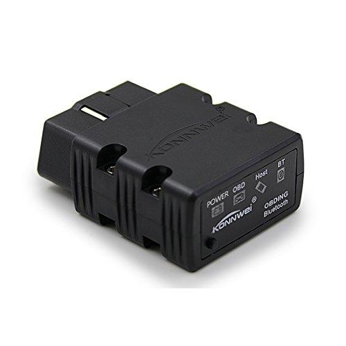 KONNWEI KW902 Mini ELM327 Bluetooth Wireless OBD-II OBD2 Car Auto Diagnostic Scan Tools compatible with Android Windows PC Black