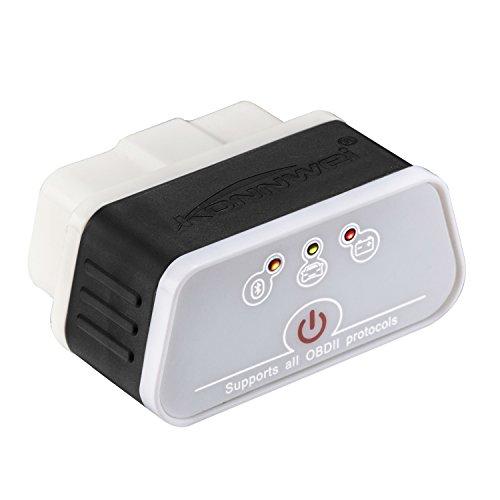 KONNWEI KW903 Mini Bluetooth 30 Wireless OBD-II Car Auto Diagnostic Scan Tools for Android Devices Blackwhite
