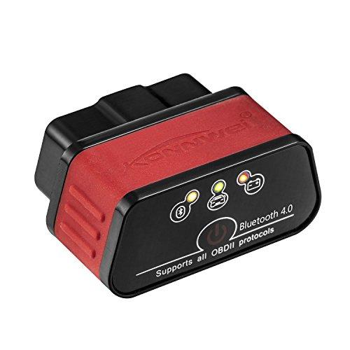 KONNWEI KW903 Mini Bluetooth 40 Wireless OBD-II Car Auto Diagnostic Scan Tools for Apple iOS Devices Blackred
