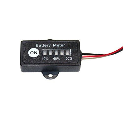 12V Lead Acid Battery Fuel Gauge Indicator Meter for 12 Volt SLAAGMGEL Battery