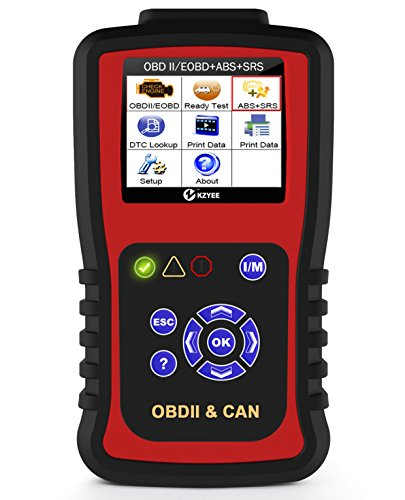 Kzyee KC501 OBD2 Code Reader ABS SRS Airbag OBDII EOBD Automotive Diagnostic Scanner 11 Modules Check Trouble Codes for Diesel or Gasoline Engine Vehicles Especially Most SUV Cars