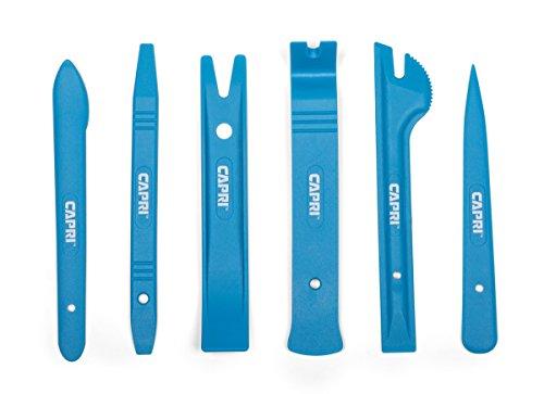 Capri Tools 21076 Auto Trim Upholstery Panel Removal Set Nylon Blue 6-Piece