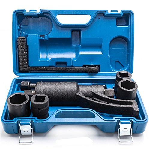 FCH 68 Model Heavy Duty Torque Multiplier Set 4pcs Socket 21mm 33mm 38mm 41mm Wrench Lug Nut Lugnuts Remover Labor Saving Fits for Minivan Medium Trucks and Heavy Trucks