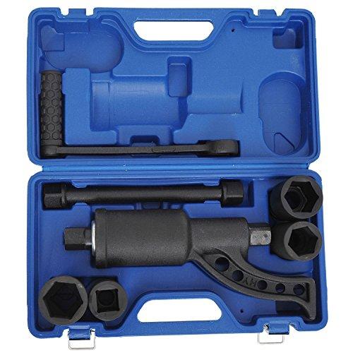 GHP Heavy Duty Aloy Steel Torque Multiplier Wrench Set w Blue Blow-Molded Case