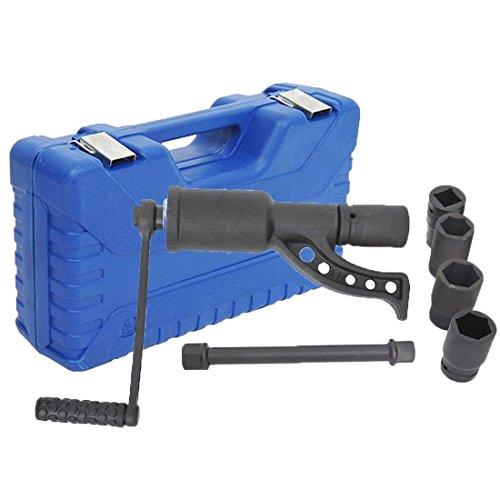 Tenive Heavy Duty Lug Nut Labor Saving Tool Torque Multiplier Socket Wrench Set with Case 4 sockets