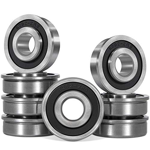 8 PCS Flanged Ball Bearings ID 12 x OD 1-38 for Lawn Mower Generators Wheelbarrows Carts Hand Trucks Wheel Hub Replacement Part Compatible for Marathon Stens Sunbelt Prime Line Exmark