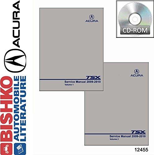 2009 2010 Acura TSX Shop Service Repair Manual CD Engine Drivetrain Wiring OEM