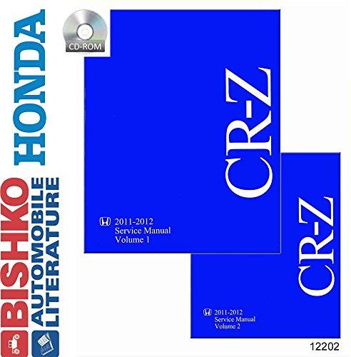 2011 2012 Honda CR-Z Shop Service Repair Manual CD Engine Drivetrain Wiring OEM