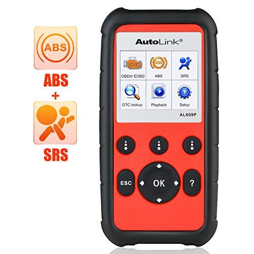 Autel AutoLink AL609P Pro OBD2 Scanner with ABS SRS Diagnosis Auto VIN Automotive Scan Tool Read Erase Check Engine Fault Codes
