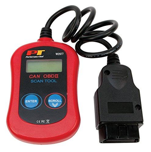 Performance Tool W2977 CAN OBDII Diagnostic Scan Tool OBD II Scanner Basic Model
