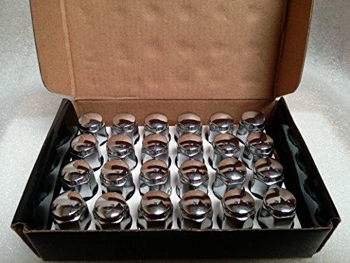 AccuWheel LNA-12150C6 Chrome Bulge Acorn Wheel Lug Nuts 12mm x 15 Thread Size 14 Tall - Pack of 24 Lugnuts