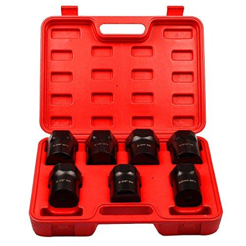 Supercrazy 7PCS Wheel Bearing Locknut Socket Set SF0117