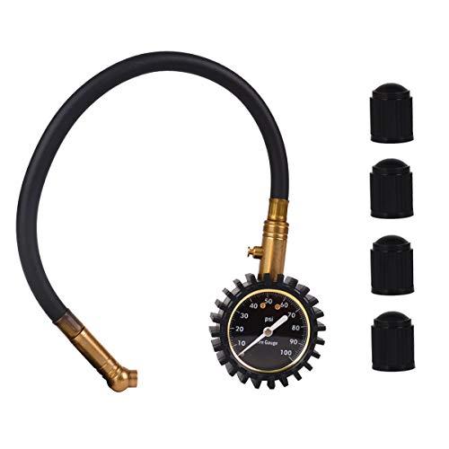 Baitaihem Tire Pressure Gauge Heavy Duty Air Pressure Gauges 0-100 PSI for Bike Cars SUV ATV Motorcycle Tires