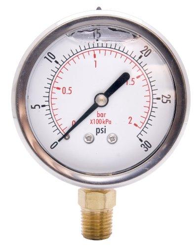 DuraChoice 2 Oil Filled Pressure Gauge - OEM - 14 NPT - Lower Mount - 30 Psi