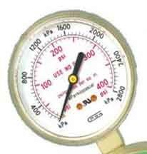 G25B-F400 GENTEC 25 inch 400 PSI Pressure Gauge