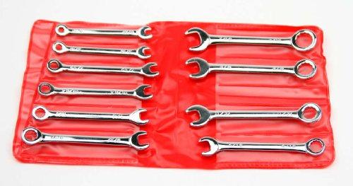 T&E Tools 10pc SAE Mini Combination Wrench Set