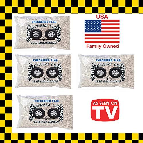 Checkered Flag Tire Beads Tire Balance Beads 4-8oz Tire Balancing Beads Kit 33x1250r15 33x1250r16 33x1250r17 33x135r15 33x1350r16 33x135r17
