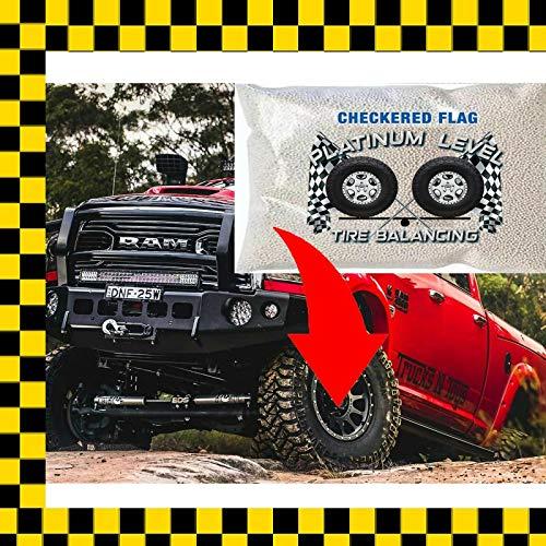 Tire Balance Beads CFTB DIY Kit 4-8oz Bags Kit 32 Ounces Total Tire Balancing Beads Filtered Valve Cores Chrome Caps Tire Beads