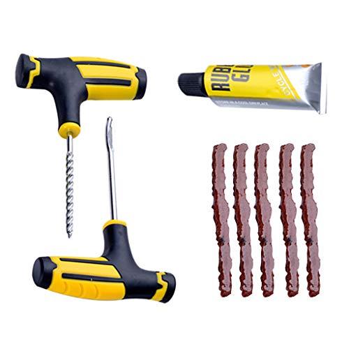 76589-743K Sdoveb Car Tubeless Tyre Tire Puncture Repair Plug Repairing Kit Needle Patch Fix Tool Yellow