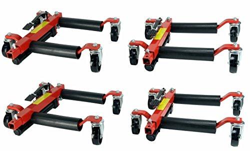 Dragway Tools 4 12in Hydraulic Car Wheel Dolly 1500 lb Capacity