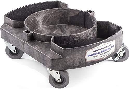 Professional 5 gallon Bucket Dolly with 3 wheels - caddy organizer
