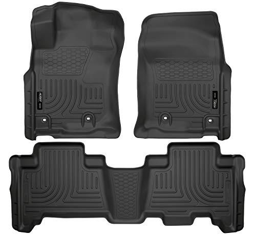 Husky Liners 99571 Black Weatherbeater Front 2nd Seat Floor Mats Fits 2014-19 Lexus GX460 2013-19 Toyota 4Runner