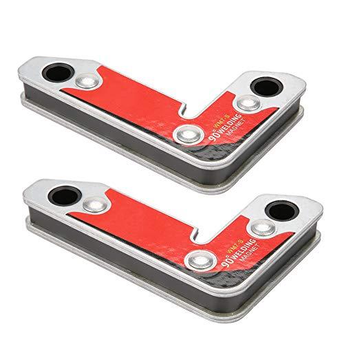 2pcs WM7-S Magnetic Welding Fxture InsideOutside Magnet Welding Clamp Holder Fixer Welder Tool 306090 Degree