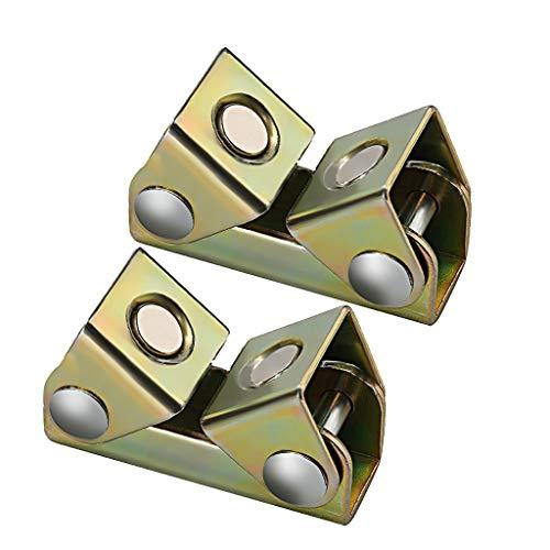 Junlai 2Pcs Home V Type Magnetic Welding Clamps Holder Suspender Fixture Adjustable V Pads Strong B
