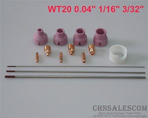 CHNsalescom 14 pcs TIG Welding Torch Kit WP-24 WP-24W WT20 Tungsten 004