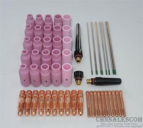 CHNsalescom 58 pcs TIG Welding Torch Kit WP-17 WP-18 WP-26 Pure Tungsten