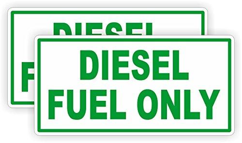 2 Diesel Fuel Only Vinyl Decals  Stickers  Labels Fuel Transfer Tank Eco Pump Gas Door Label Weatherproof