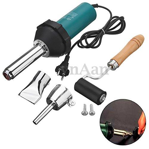 1080W Plastic Hot Air Torch Welding Gun Welder Pistol Tools Kit  Nozzle Roller