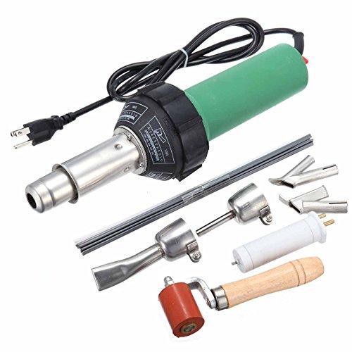HuhushopTM 110V Hot Air Torch Plastic Welding Gun Welder Pistol 1500W 2pcs Speed Nozzle roller Free Ship via DHL
