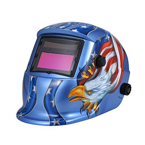 KKmoon Solar Automatic Darkening Helmet Welding Mask Auto Welding Shield MIG TIG ARC Weld Protective Cap With Lens Adjustable He-adband