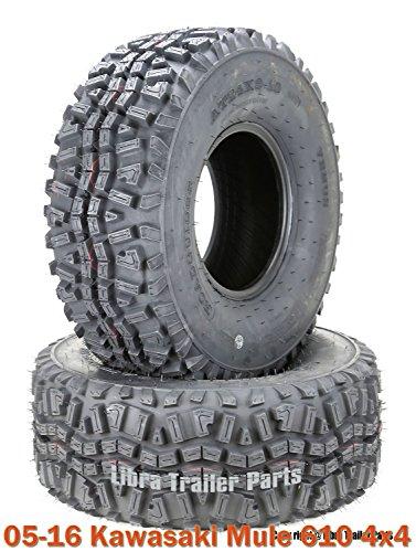2 24x9-10 ATV Front Tire Set for 05-16 Kawasaki Mule 610 4x4