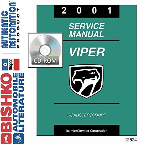 2001 Dodge Viper Shop Service Repair Manual CD Engine Electrical OEM