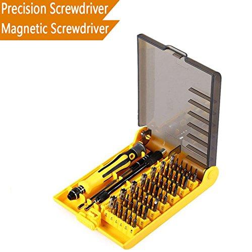 TINDERALA Precision Screwdriver Set Magnetic Driver Kit 45 in 1 with 42 Bit Magnetic Screwdriver Professional Repair Tool Kit for iPhone 8 8 Plus iPhone 7 7 Plus Smartphone Clock Game