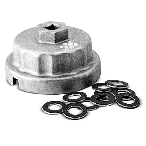 AFA Toyota Oil Filter Wrench  Bonus 10 Pieces of Toyota Oil Drain Plug Gasket
