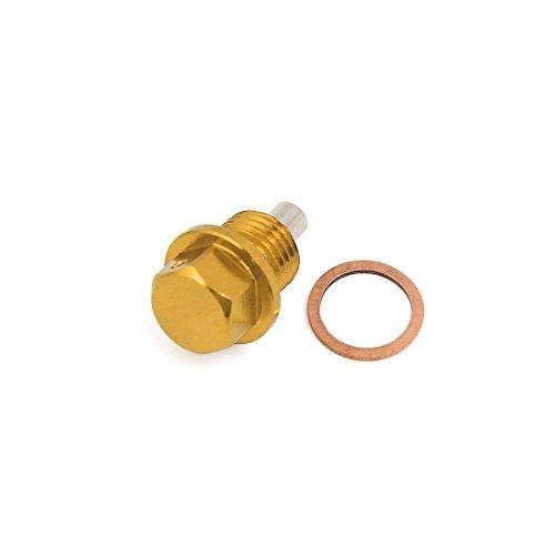 uxcell Gold Tone Metal Magnetic Engine Oil Drain Cap Screw w Billet M1415
