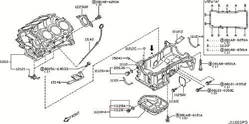 Infiniti 11026-JA00A Engine Oil Drain Plug Gasket