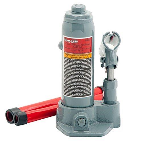 Pro-Lift B-002D Grey Hydraulic Bottle Jack - 2 Ton Capacity Renewed