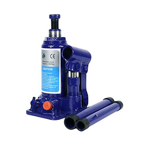 ZBN 2 Ton Hydraulic Bottle Jack With Safety Valve Blue Car Jack - 2 Ton Capacity