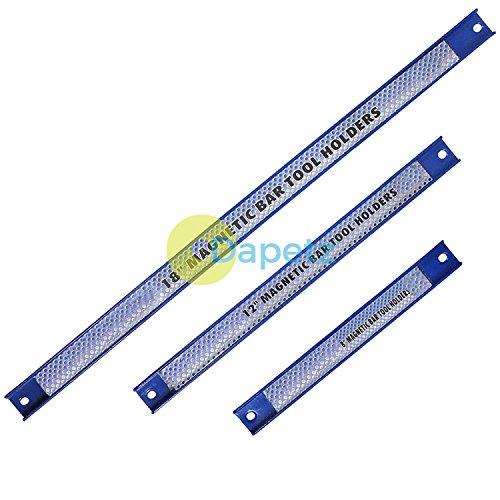 Dapetz 3Pc Magnetic Bar Hand Tool Socket Rail Storage Rack Holder Organiser 8 12 18