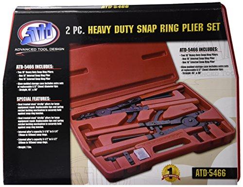 Advanced Tool Design Model  ATD-5466 Heavy Duty 16 Snap Ring Pliers Set