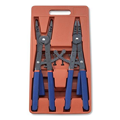 Hiltex 02016 16 Snap Ring Plier Set 2 Piece  External and Internal Pliers  Straight 45° 90° Tips
