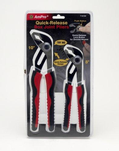 AmPro T19150 2pc Quick-Release 8 10 Push Button Box Joint Pliers