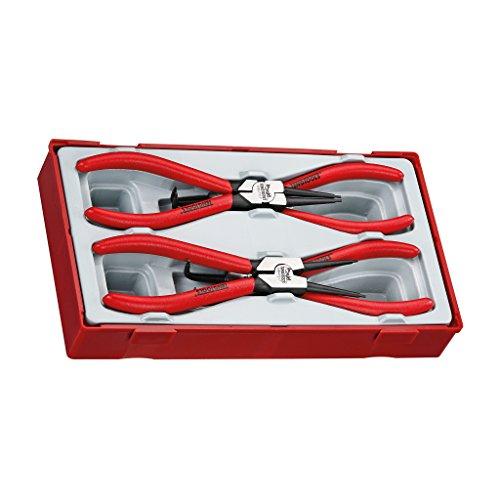Teng Tools 4 Piece 7 Inch Snap Ring Circlip Plier Set - TT474-7